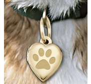 Dog s Paw Print Heart Picture Locket