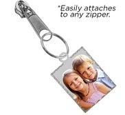 Exclusive Zipper Pull Petite Rectangle w  Diamond Cut Edge Charm