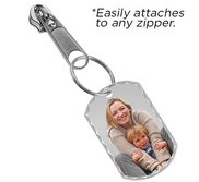 Exclusive Zipper Pull Photo Engraved Dog Tag Charm