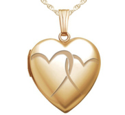 Yellow Gold  Interlocking Hearts  Heart Locket