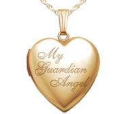 Yellow Gold   My Guardian Angel   Heart Locket