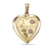 14K Gold Filled  1 Grandma  Heart Locket