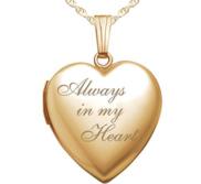 14K Yellow Gold  Always In My Heart  Locket