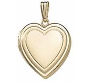 Solid 14K Yellow Gold  Sweetheart  Locket