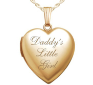 14K Gold Filled Daddy s Little Girl Heart Locket
