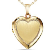 14K Gold Filled Yellow Heart Locket