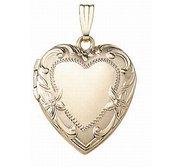 Solid 14K Yellow Gold Heart Locket