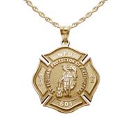Customized Saint Florian Badge Religious Medal   EXCLUSIVE