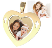 Heart Pendant w  Cross Design