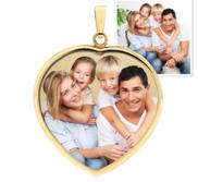 Heart Pendant w Bezel Photo Pendant Picture Charm