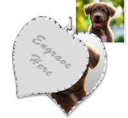 Sterling Silver Heart Swivel Photo Pendant