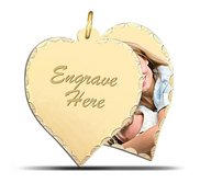 Yellow Gold Heart Swivel Photo Pendant