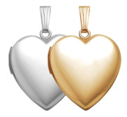 Build Your Own Gold 2 Picture Heart Locket
