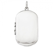 Build Your Own  2 Picture Dog Tag Locket