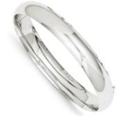 14k White Gold Women s High Polished Hinged Bangle Bracelet